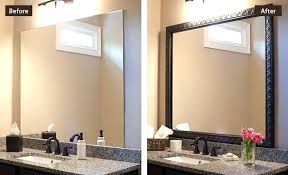 how to frame a bathroom mirror with molding bathroom mirror trim sillyroger com