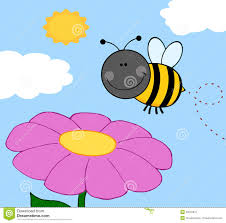bumble bee flying over flower royalty free stock photo image