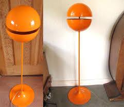 Orange Floor Lamp Ebay Watch Vintage Orange Space Age Floor Lamp Idees D U0027espaces
