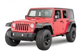 jeep wrangler or jeep wrangler unlimited mopar 77072342 high top fender flares for 07 17 jeep wrangler