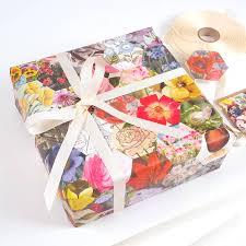 luxury christmas wrapping paper gardeners floral luxury gift wrapping paper by bombus