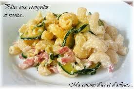 cuisine pates recette de pâtes aux courgettes et ricotta la recette facile