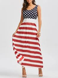 Model American Flag 2018 American Flag Print Maxi Dress Red S In Maxi Dresses Online