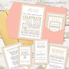 what to put on a wedding invitation what to put in your pocket wedding invitations jeneze designs
