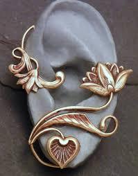 ear wrap golden flower ear wrap lotus serenity intricate brass