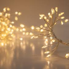 novelty lights warm white led garland lights silver wire