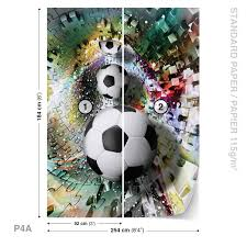Football Wall Murals by Wall Mural Photo Wallpaper Xxl Colorful Puzzle Football 3381ws