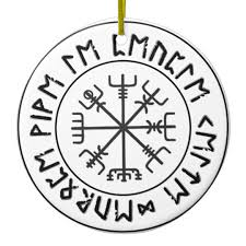 compass viking ceramic ornament zazzle