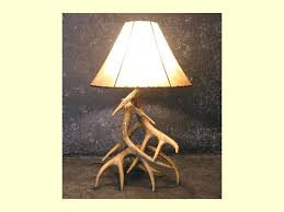 table lamps tips for buying the deer lamps faux deer antler