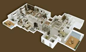 home layout design 4 bedroom apartment house plans