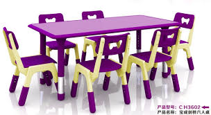 plastic table with chairs height adjustable nontoxic children rectangular plastic table
