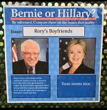 Rory Meme - rory s boyfriends bernie sanders vs hillary clinton memes