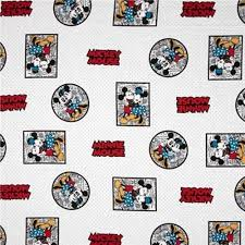 cotton fabric character fabric disney mickey minnie framed