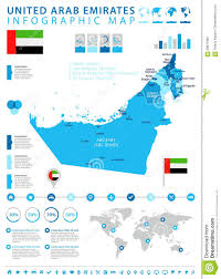 United Arab Emirates Map United Arab Emirates Map And Flag Infographic Illustration