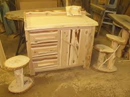 Log Vanity Rustic Vanity Cedar Log Vanity Rustic Log Furniture