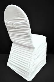ruffled chair covers spandex chair cover with band and buckle