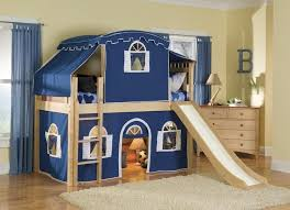 Kid Bunk Bed Bedroom Boyish Bunk Beds With Stairs And Desk Optional Tent