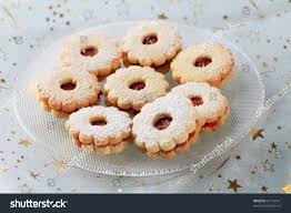 christmas shortbread jam cookies stock photo 62118541 shutterstock