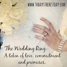 what does a wedding ring symbolize the wedding ring a token of commitment and promises what