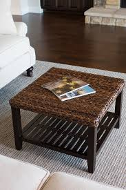 fully assembled end tables amazon com birdrock home woven seagrass coffee table mahogany