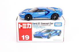 car toy blue 19 takara tomy tomica scales 1 64 ford gt concept 1st diecast car