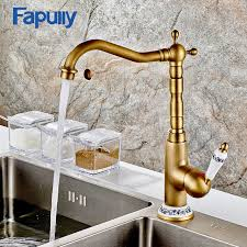 antique kitchen sink faucets aliexpress buy fapully kitchen sink faucet deck mount