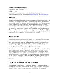 gis for subsurface modeling pdf download available