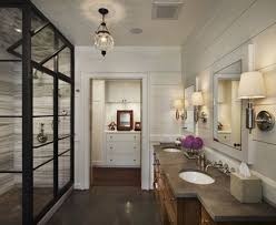 bathroom double tube wall sconce applied above vanity for