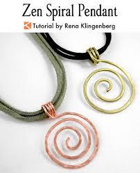 necklace pendant making images Zen spiral pendant tutorial jewelry making journal jpg