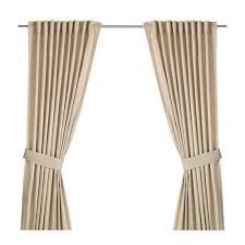 Ikea 98 Inch Curtains Ingert Curtains With Tie Backs 1 Pair Beige Room Lights And