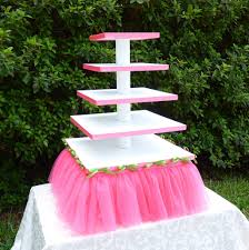 5 tier cupcake stand 5 tier square tutu cupcake stand hot pink tutu with lime flickr