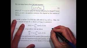 heat equation derivation