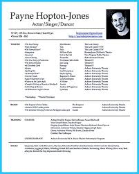 Theatre Resume Template Word Theatrical Resume Format Theater Resume Template Theater Resume