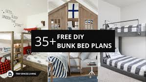 free diy bunk bed plans to save your bedroom space