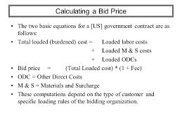 bid price estimating software calculating cost price and bid price ppt
