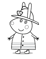 funny cartoon peppa pig coloring pages womanmate com