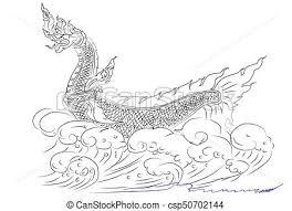 naga tattoo thailand sketch line thai naga animal idea background drawing search clip