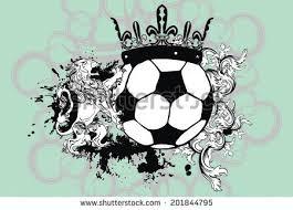 heraldic soccer coat arms vector format stock vector 71341411