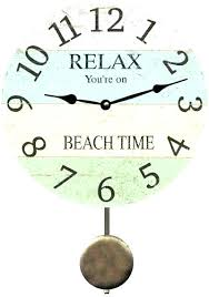 themed wall clock large coastal wall clock dsellman site