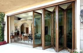 Bi Fold Glass Doors Exterior Cost Exterior Folding Glass Doors Wooden Frame Patio Glass Door