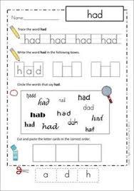 cvc cut paste u0026 write worksheets kindergartenklub com