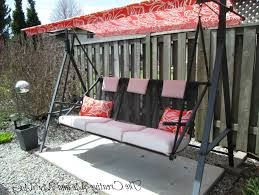 Porch Swing With Cushions Porch Swing Cushions With Back Home Design Ideas