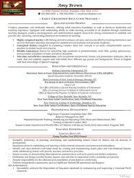 Educational Resume Examples by Early Childhood Education Resumes Best Resume Collection