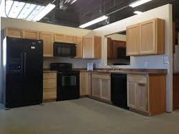 clean yellowed hickory kitchen cabinets