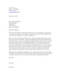fashion designer cover letter sample guamreview com