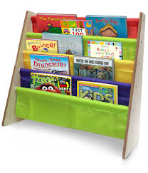 toddler bookshelf bright primary colors pockets bookcase sorbus