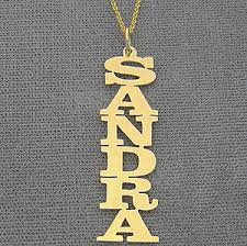 personalized gold necklaces personalized gold vertical any name necklace free shipping