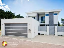 custom built home with skillion roof design
