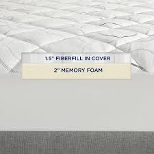 instant pillow top memory foam topper sleep innovations