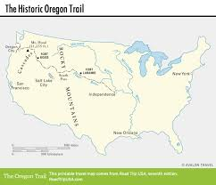Independence Ohio Map by The Historic Oregon Trail Road Trip Usa